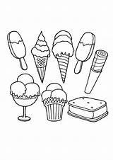 Coloring Ice Cream Creams Sorvete Colouring Printable Popular Colorir Participar Costura Recomendamos Quer Curso Veja Aqui Um Como sketch template