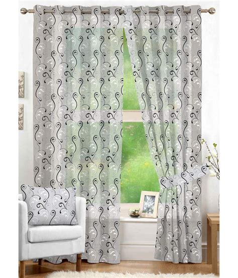 nuhome decor sheer embroidery white scroll polyester door