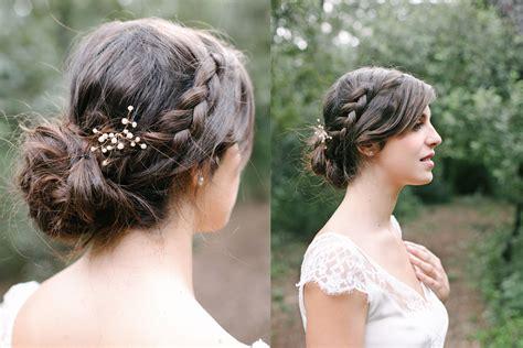 coiffure mariage chignon bas tresse coiffure mariage accessoiriser le chignon tress 233