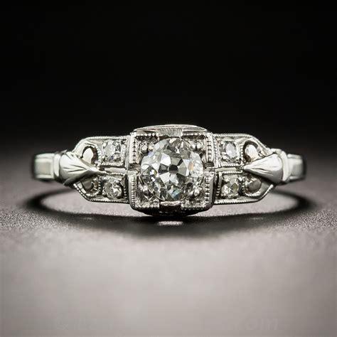 33 carat deco engagement ring