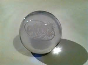 Etched Glass Dragon Paperweight