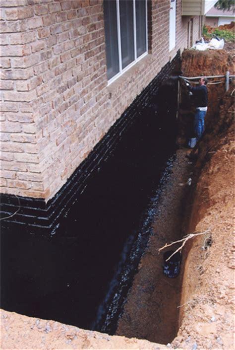 Exterior Basement Wall Waterproofing Membrane