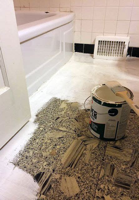 Painting Tile Floors In Bathroom by Diy Bathroom Makeover How To Paint Linoleum Flooring And