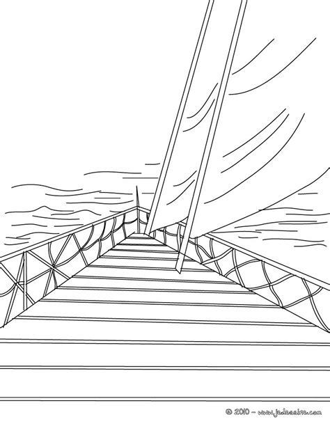Dessin Bateau Yacht by Coloriages Coloriage Avant De Yacht 224 Imprimer Fr