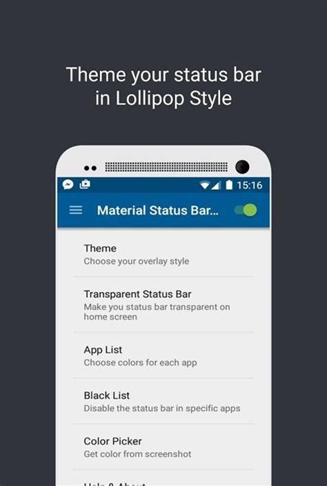 android status bar material status bar pro premium apk galaxy brasil