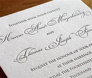 customized romantic copperplate script on formal custom With copperplate calligraphy wedding invitations