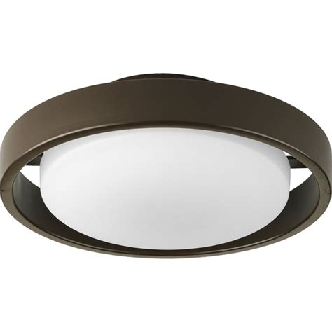 progress lighting p5781 20ebwb hoop outdoor flush mount