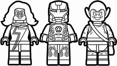 Lego Coloring Pages Marvel Superheroes Superhero Printable