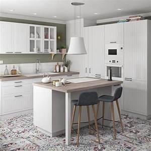 Ilot Central Cuisine Leroy Merlin : cuisine blanche avec ilot central leroy merlin ~ Melissatoandfro.com Idées de Décoration