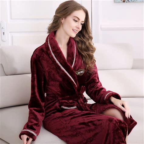 robe de chambre velours plus size winter 39 s flannel robe wine