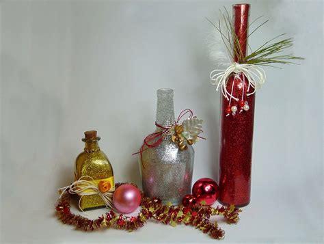 diy botella decorada para navidad