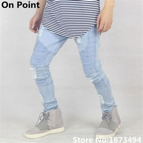ripped for light blue usa size cool brand designer mens distressed light blue