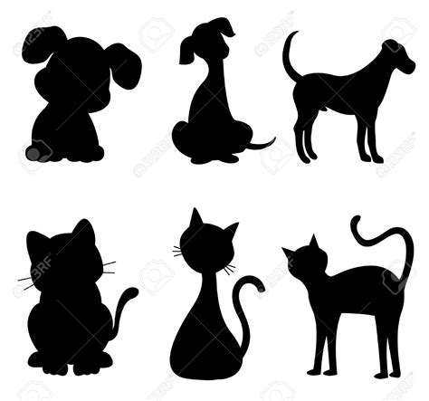 cat  dog silhouette clip art  clip art