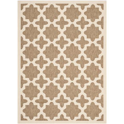 safavieh outdoor rug safavieh courtyard brown bone indoor outdoor area rug