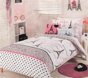Bed Cover Sets by Teens Paris Bedroom Decor
