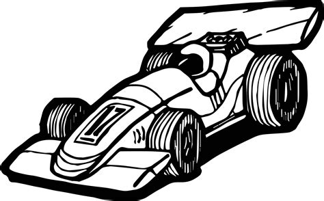 awesome Formula Car Race Coloring Page Color Sports