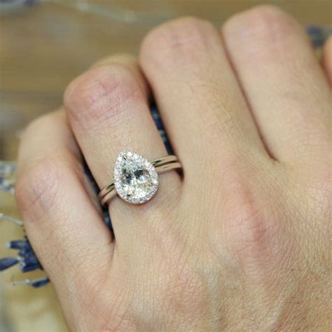 14k White Gold Pear Halo Diamond Engagement Ring Plain. Ct Tw Wedding Rings. Pastel Pink Rings. Artsy Rings. Love Rings. Bearer Engagement Rings. Animal Wedding Rings. Cut Marquise Engagement Rings. Ohio State Rings