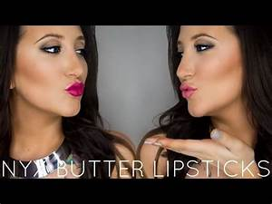 NYX Butter Lipstick | Lip Swatches & Review - YouTube