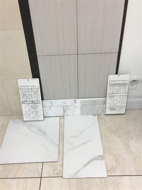 grout color for white marble tile in shower