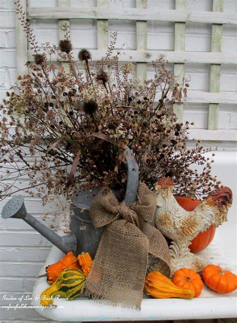 outdoor len our 1916 outdoor potting sink decorated for thanksgiving