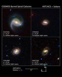 NASA - Barred Spiral Galaxies Are Latecomers to the Universe