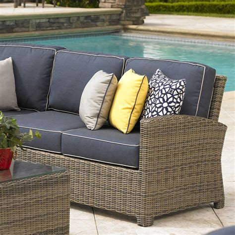 bainbridge right arm loveseat sectional universal patio