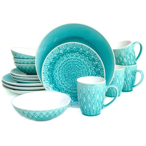 peacock crackle dinnerware piece glaze ceramica euro items overstock dishes lagoon durable cement kitchen service clearance annual