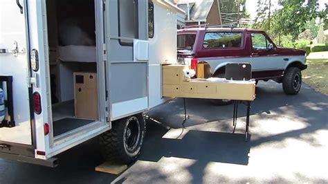 road cargo trailer conversion   kitchen