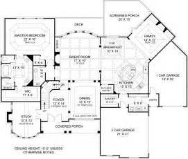 great room house plans one drewnoport 7395 4 bedrooms and 4 baths the house designers