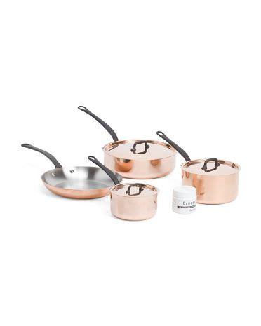 france pc ms copper cookware set cookware bakeware tjmaxx   copper