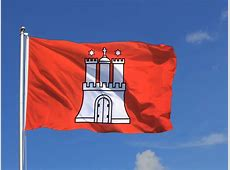 Große Hamburg Flagge 150 x 250 cm FlaggenPlatzde