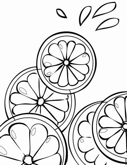 Coloring Fruit Pages Lemonade Printable Stand Lime