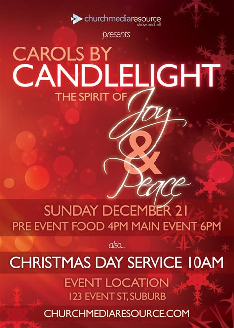 red snow christmas flyer church media resource