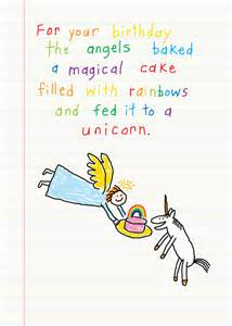unicorn birthday card greeting rainbow funny clayboys