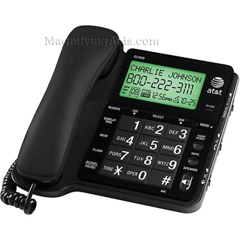 at t phone number low vision caller id voice activated dialer
