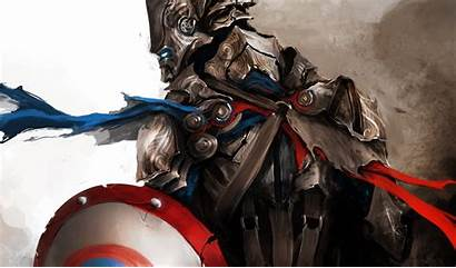 Wallpapers Medieval America Captain Avengers Backgrounds Background