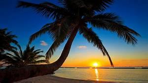 Amazing Sunset View at Maldives Beach HD Wallpapers