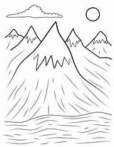 Mountain Mountains Coloring Pages Appalachian Template Henry Copy Printables Range Rocky Colorings Getdrawings sketch template