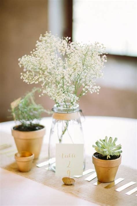 flower table decorations for weddings 90 rustic baby s breath wedding ideas you ll love
