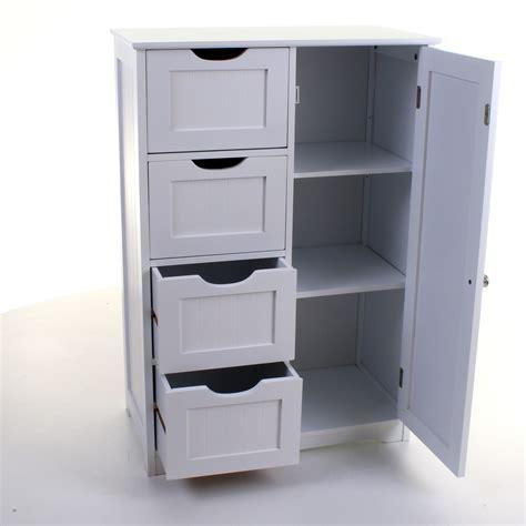4 Drawer Cabinet Bathroom Storage Unit Chest Cupboard