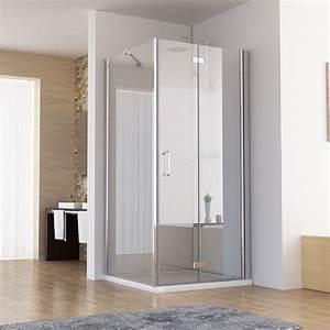 Falttür Mit Glas : duschkabine eckeinstieg dusche faltt r duschwand mit seitenwand nano glas 195cm ebay ~ Sanjose-hotels-ca.com Haus und Dekorationen
