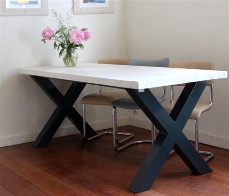 tafel met kruispoot tafel met kruispoot op maat gemaakt