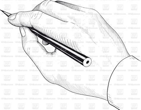 hand writing   drawing pencil vector image