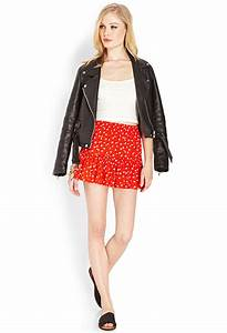 Forever 21 Ditsy Floral Ruffle Skirt in Black   Lyst