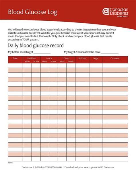 blood glucose log shop diabetes canada
