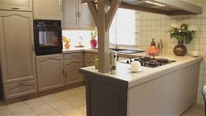 Cuisine Repeinte En Blanc : cuisine repeinte en beige se renov ~ Melissatoandfro.com Idées de Décoration
