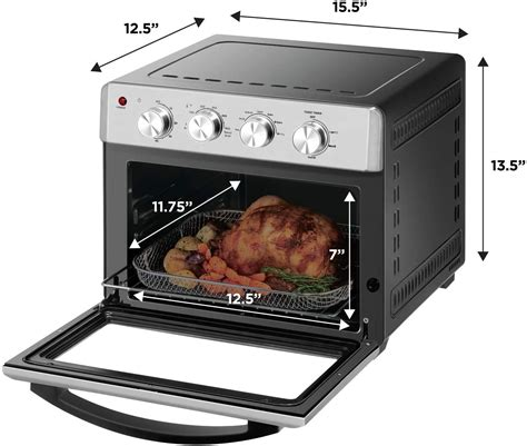 fryer air toaster oven slice chefman qt airfryer convection auto accessories fry