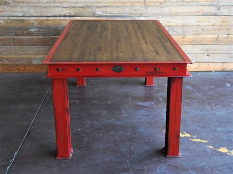 firehouse table vintage industrial furniture