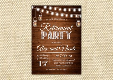 retirement party invitation templates psd ai eps