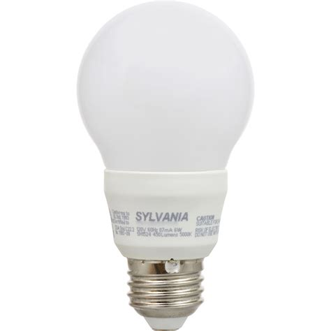 sylvania a19 40w 120v e26 non dimmable white frosted led